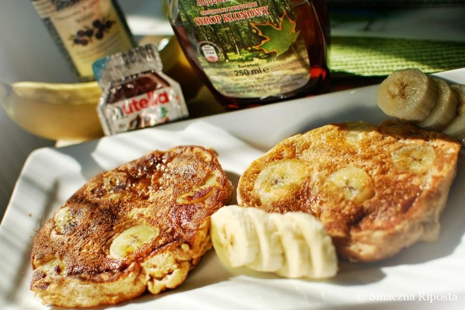 Dyniowe pancakes z bananami