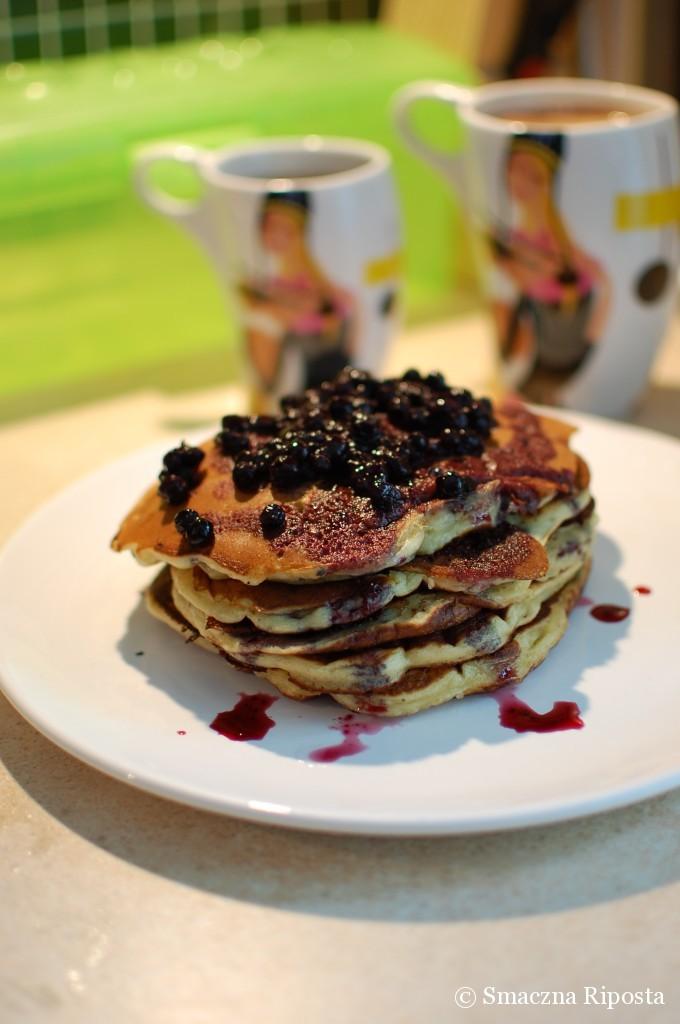 Amerykańskie pancakes z jagodami!