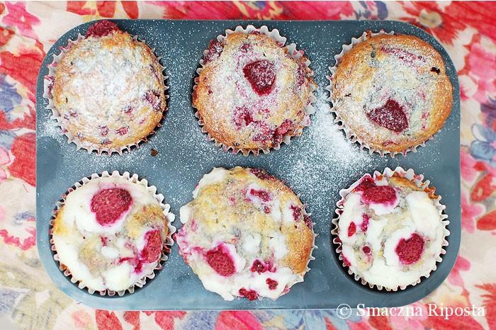 Malinowe muffinki z ricottą