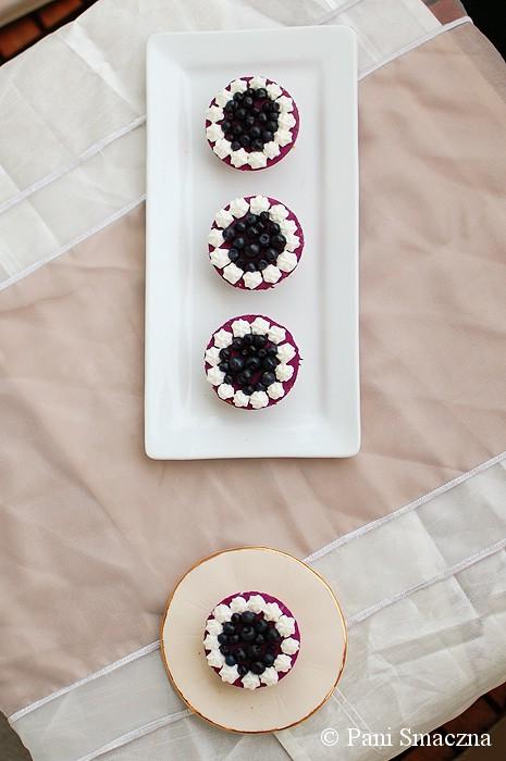 Mini serniczki jagodowe (na zimno)