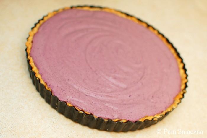 Tarta na owsianym spodzie z musem czekoladowo – borówkowym