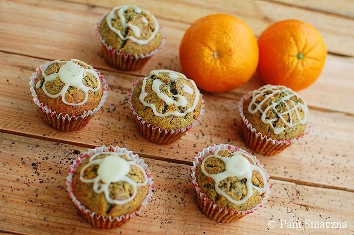 Pomarańczowe muffinki z makiem