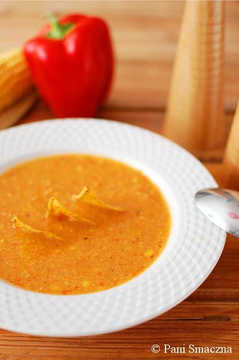 Zupa kukurydziano-paprykowa