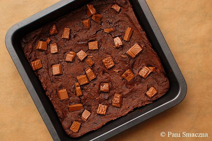 Bezglutenowe błyskawiczne brownie z czerwoną fasolą