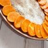 Bezglutenowe ciasto mandarynkowe z polentą i migdałami