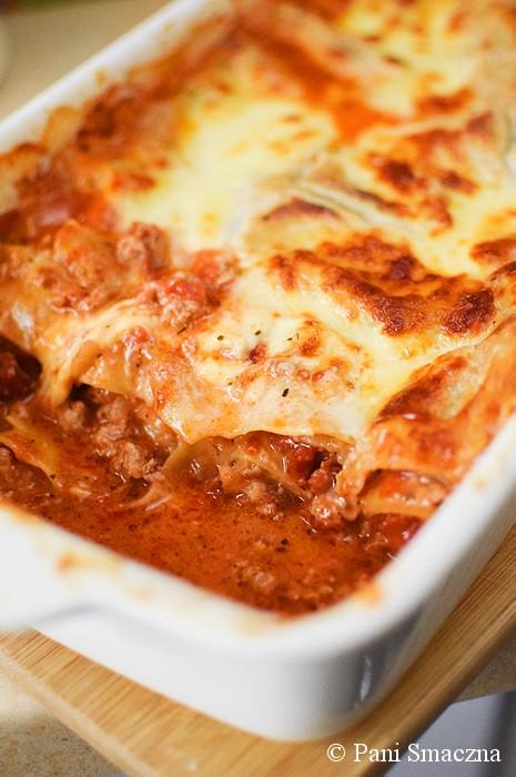 Lasagne z suszonymi pomidorami i mozzarellą