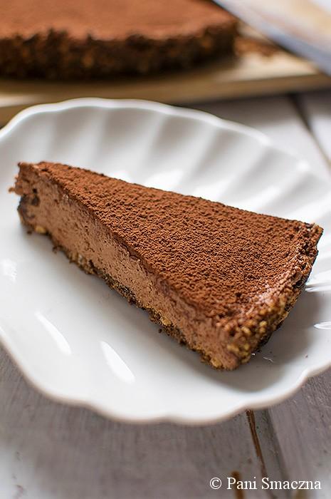 5-składnikowa tarta kasztanowo – czekoladowa  (bez pieczenia)