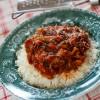 Schab w sosie pomidorowo-ziołowym z ryżem lub kaszą