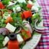 Sałata z rukolą, fetą i arbuzem